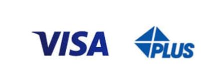 VISAデビットカード:「Visa」または「Plus」のロゴがあるATM